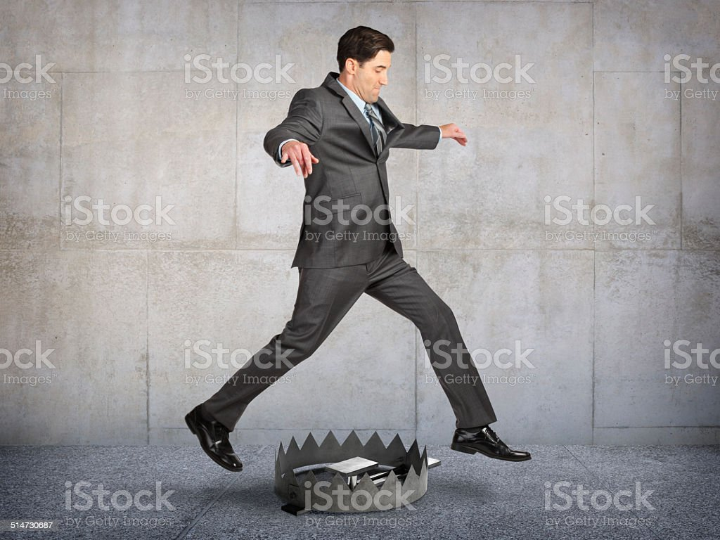 Avoiding The Trap stock photo