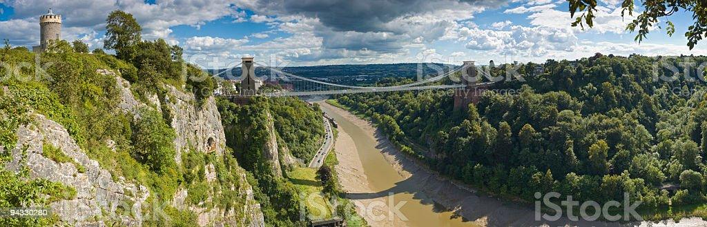 Avon Gorge and bridge, Bristol, UK stock photo