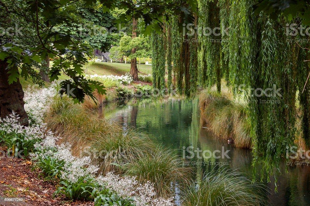Avon River - Christchurch stock photo