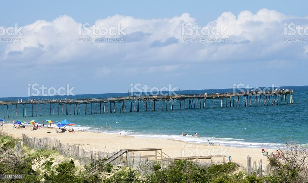 Avon_Pier_Beach stock photo