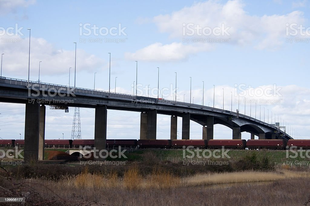 Avonmouth Motorway Bridge stock photo