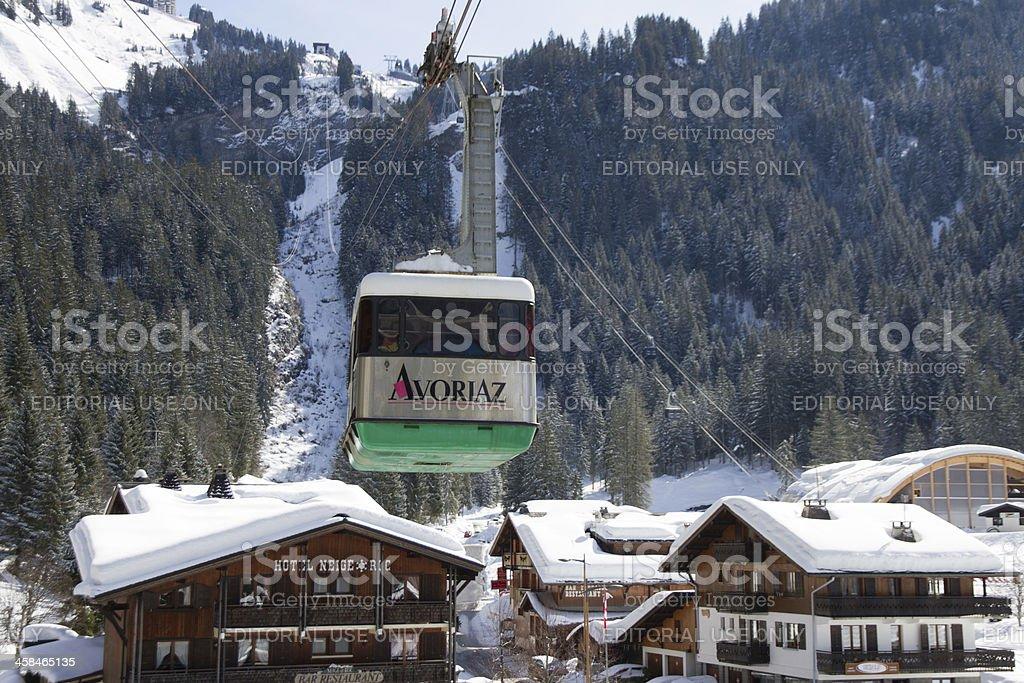 Avoriaz new lift system stock photo