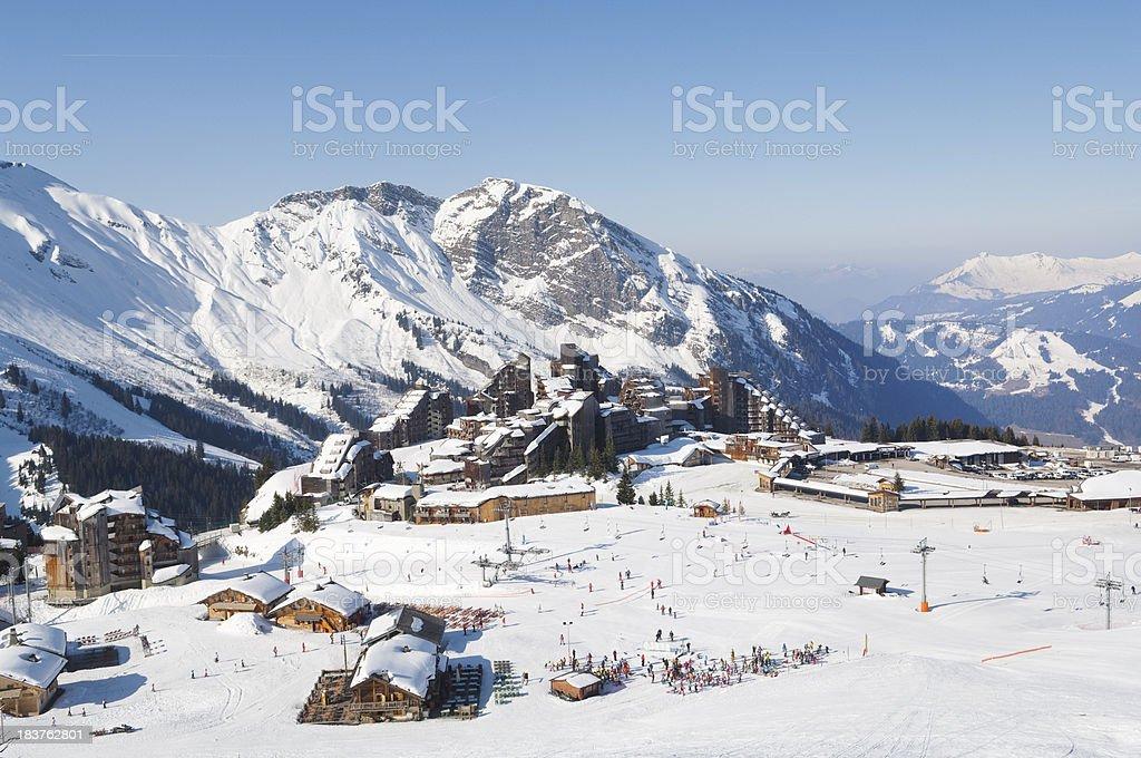 Avoriaz Ski Resort France stock photo