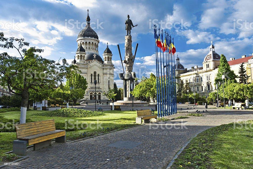 Avram Iancu Square,Cluj-Napoca,Romania stock photo