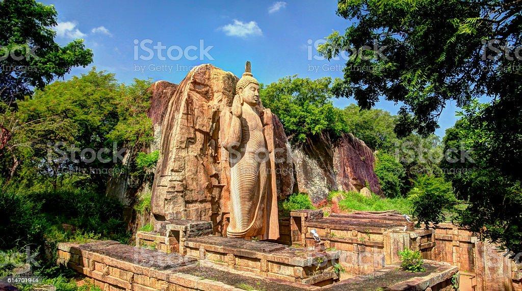Avukana Buddha image stock photo