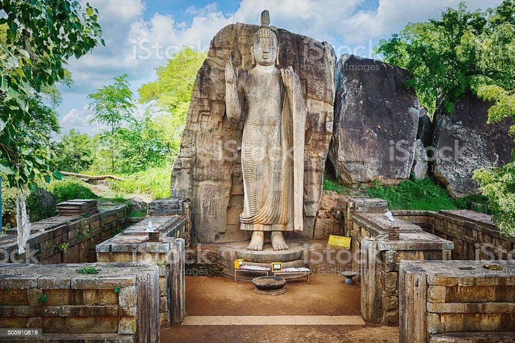 Avukana Buddha Statue stock photo