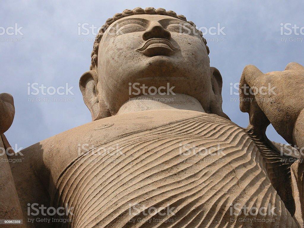 Avukana Buddha Statue, Sri Lanka stock photo