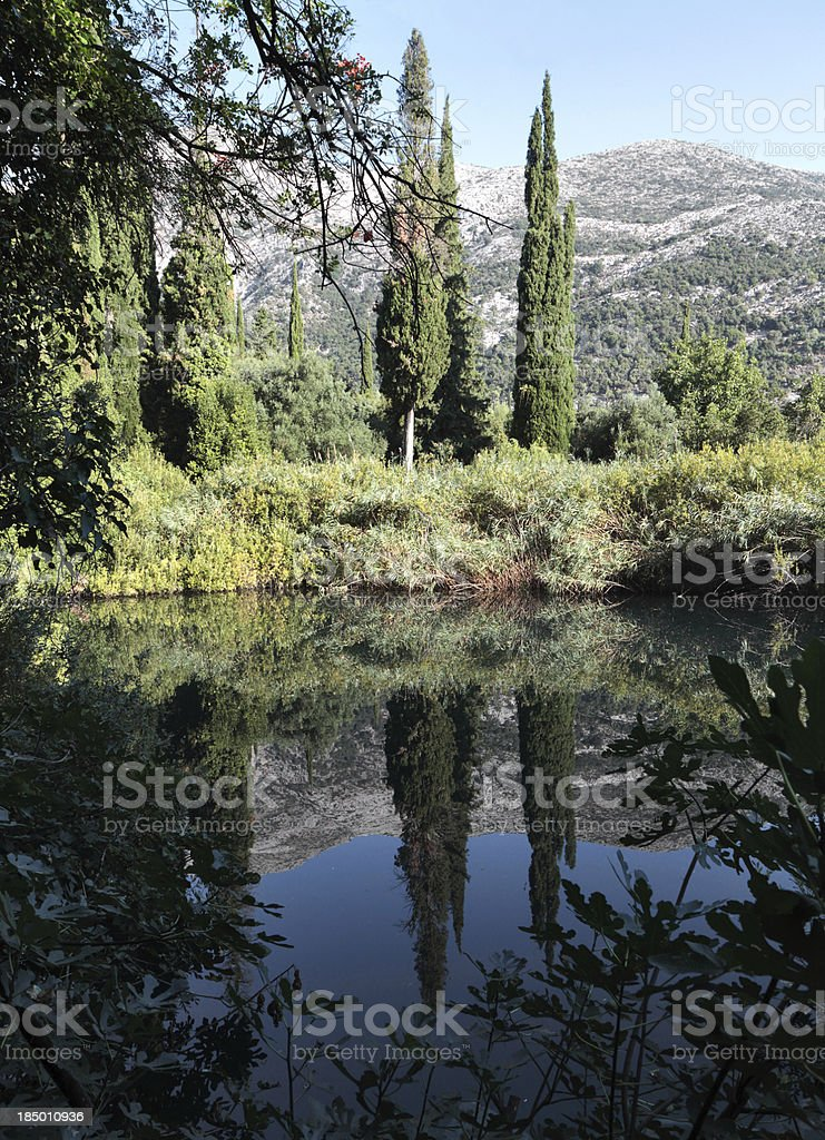 Avythos Lake near Poros stock photo