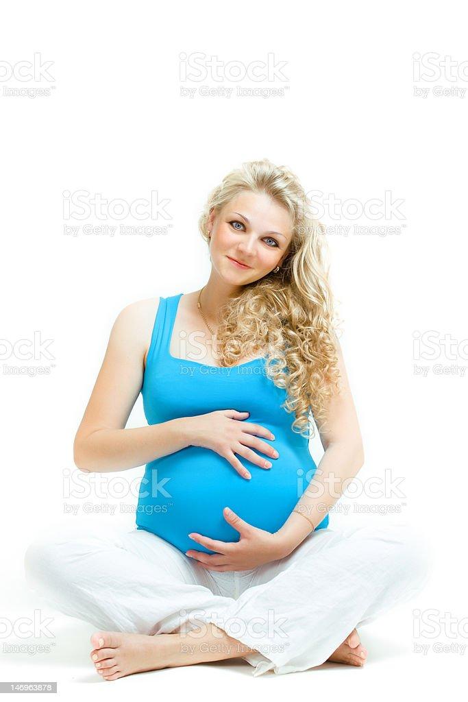 awaiting a baby royalty-free stock photo