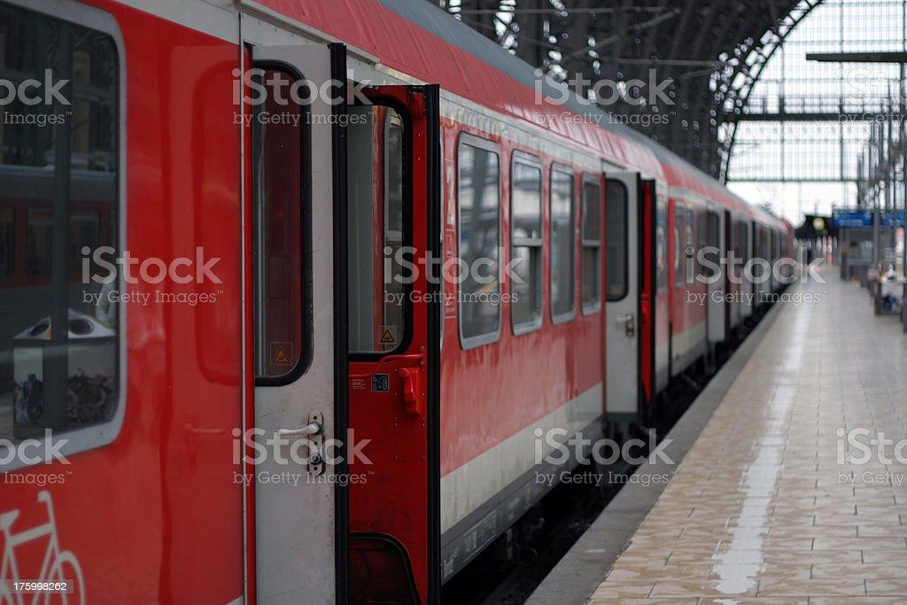 Awaiting passengers - train royalty-free stock photo