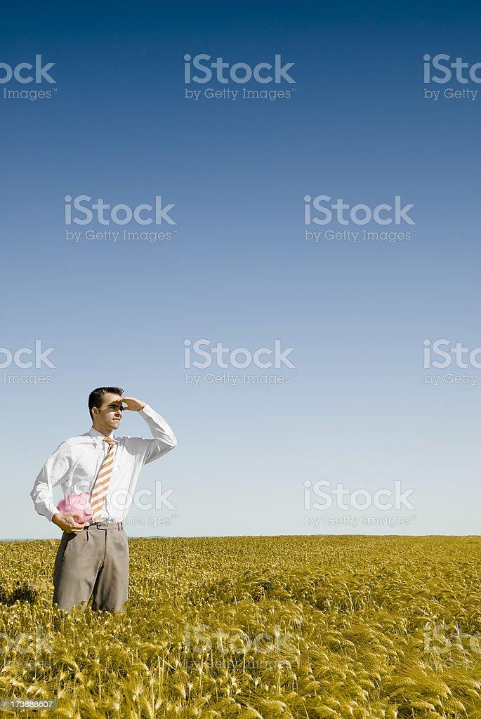 Awaiting royalty-free stock photo