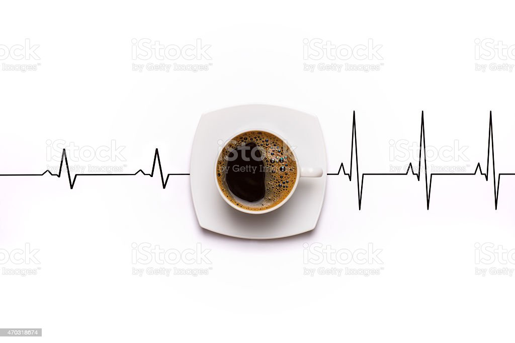 Awakening coffee cup stock photo