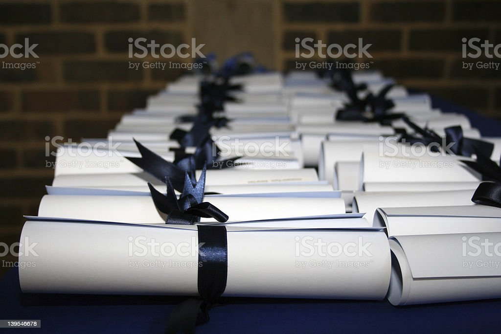 Award Certificates stock photo