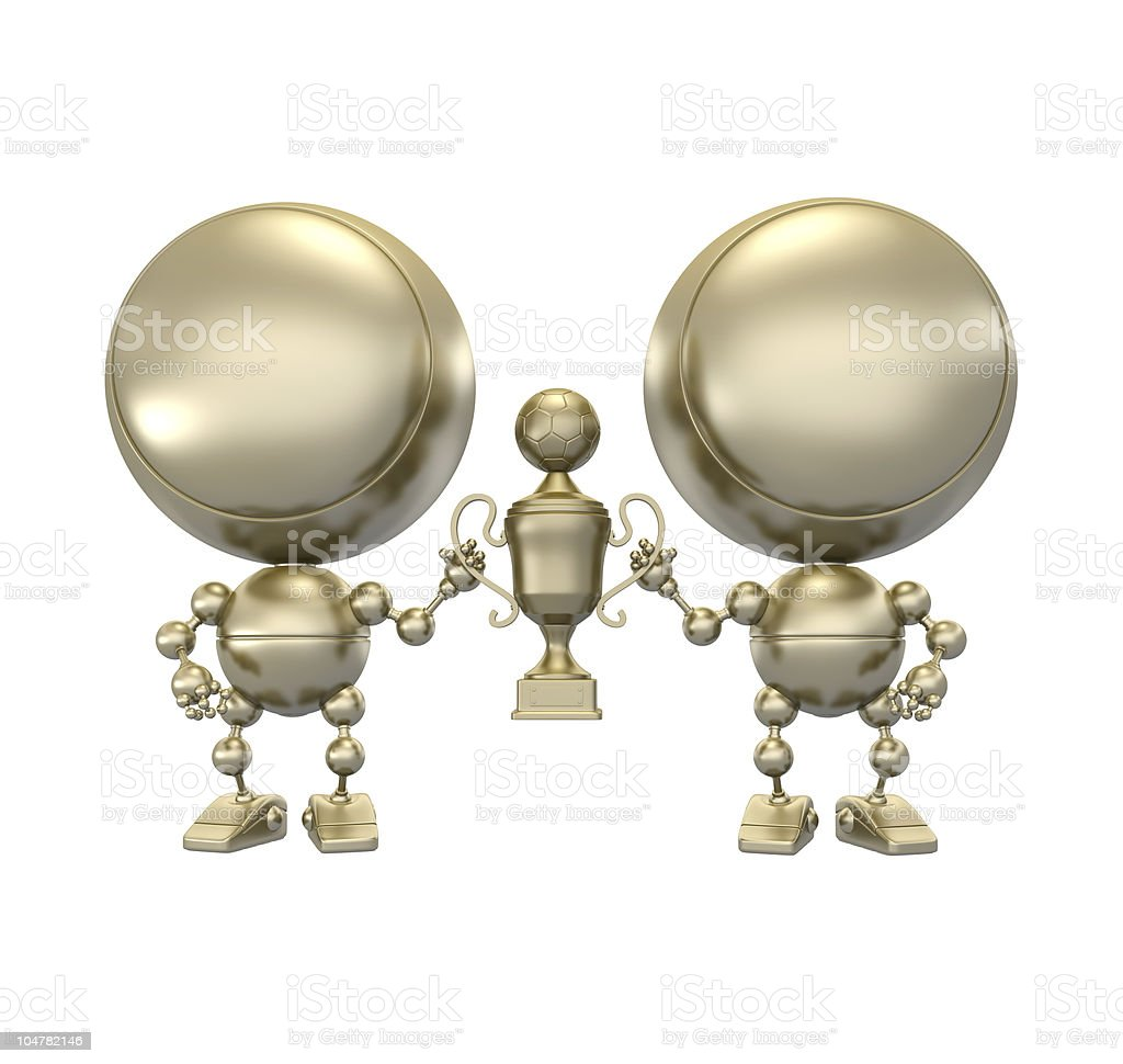 Award for football cup royalty-free stock photo