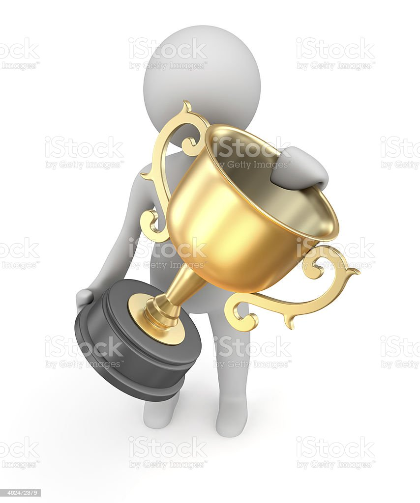 Award gold cup royalty-free stock photo