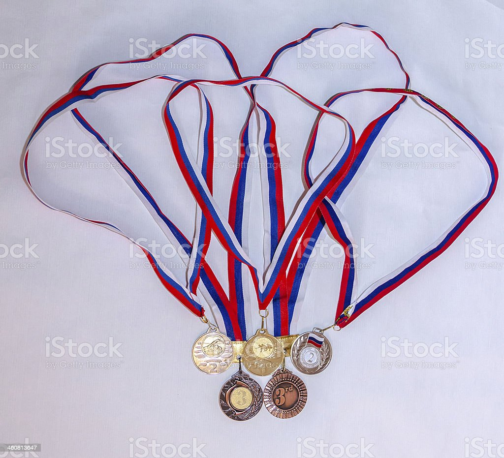 award medal sport Olympiad stock photo
