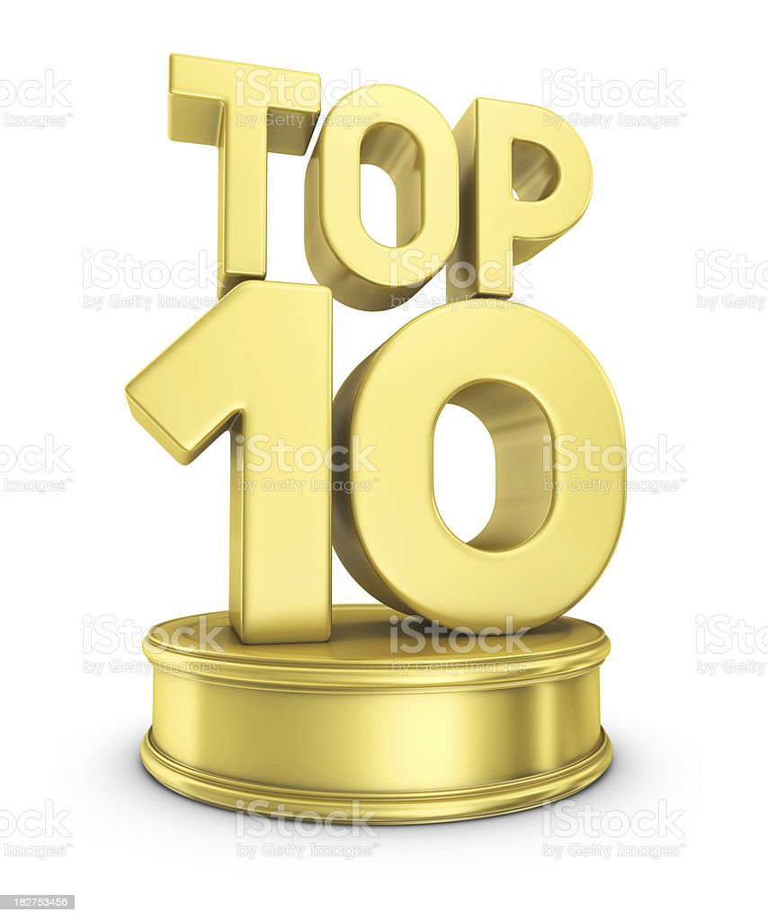 TOP 10 award stock photo