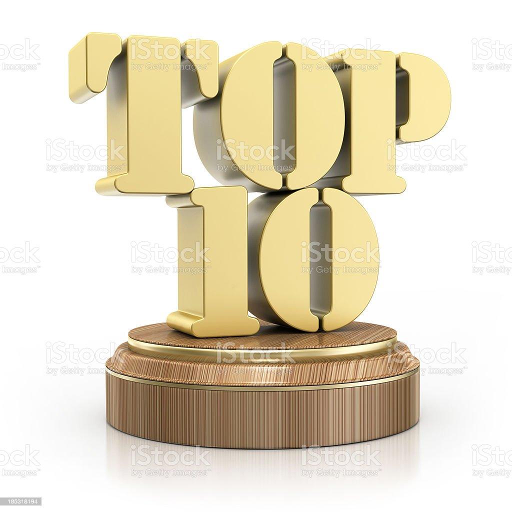 TOP 10 - Award royalty-free stock photo