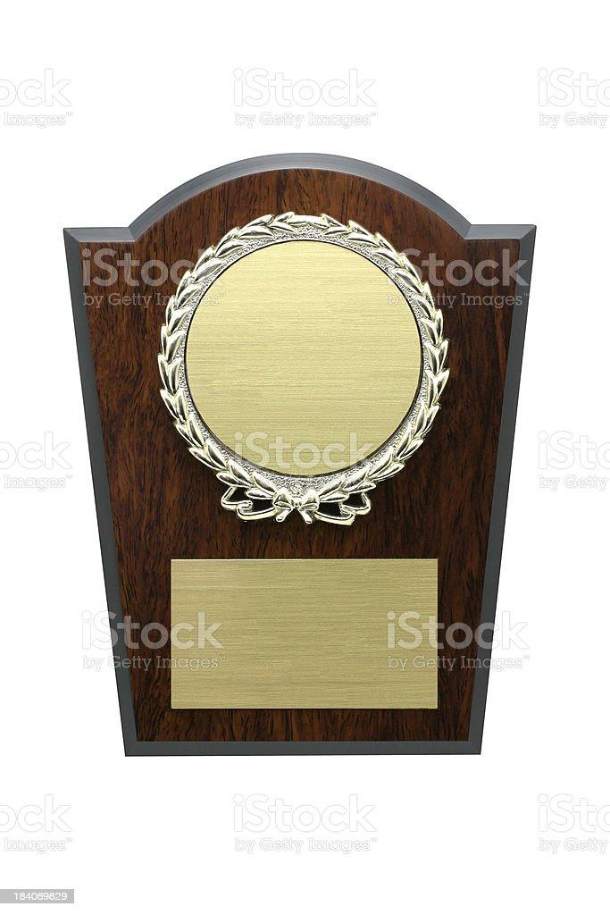 Award Plaque royalty-free stock photo