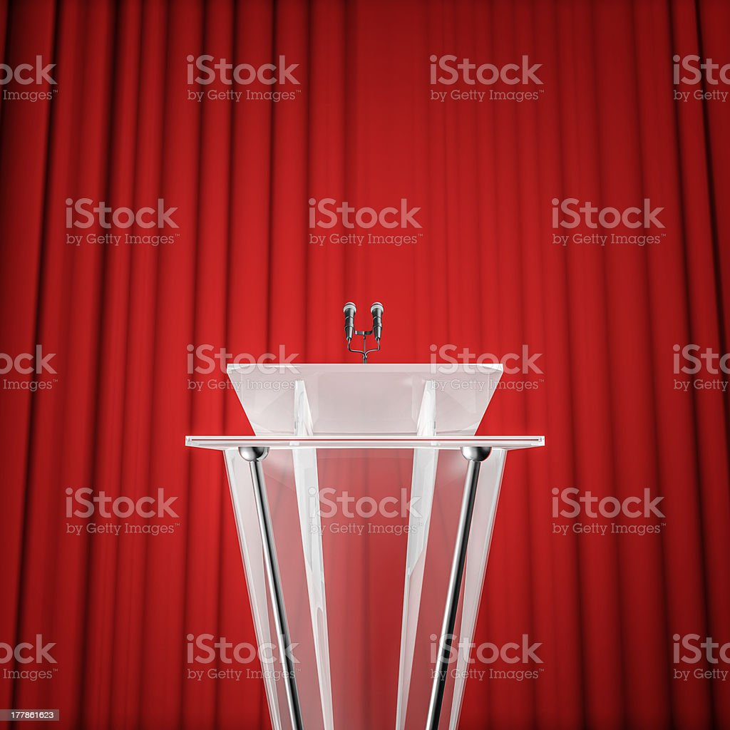 Award press conference stock photo