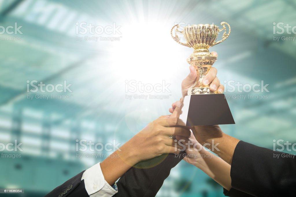 Award trophy stock photo