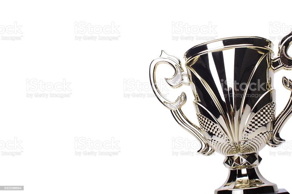 award winning trophy isolated stock photo
