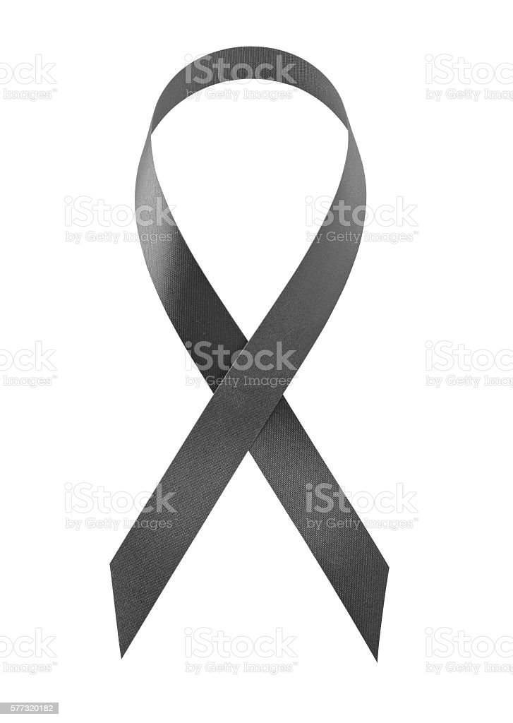 Awareness black ribbon stock photo