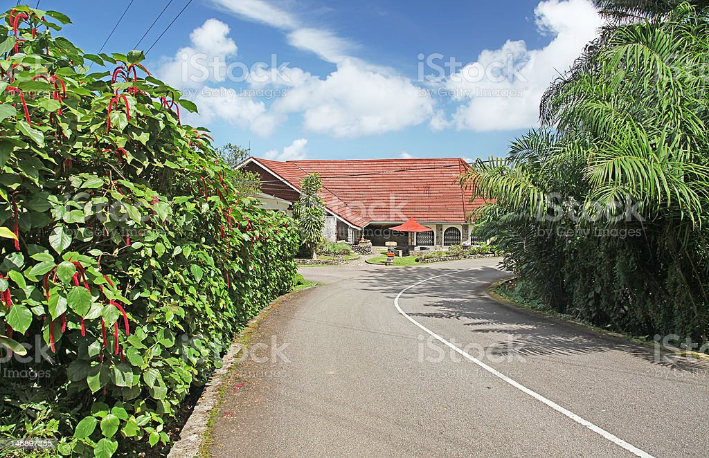 Away from Beaches of the Seychelles stock photo