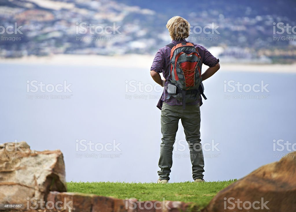 Awed by the beauty of nature royalty-free stock photo