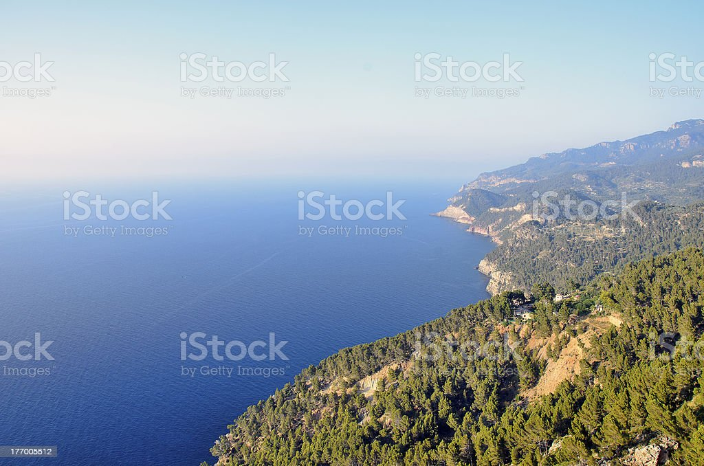 Awesome cliffs in Majorica royalty-free stock photo