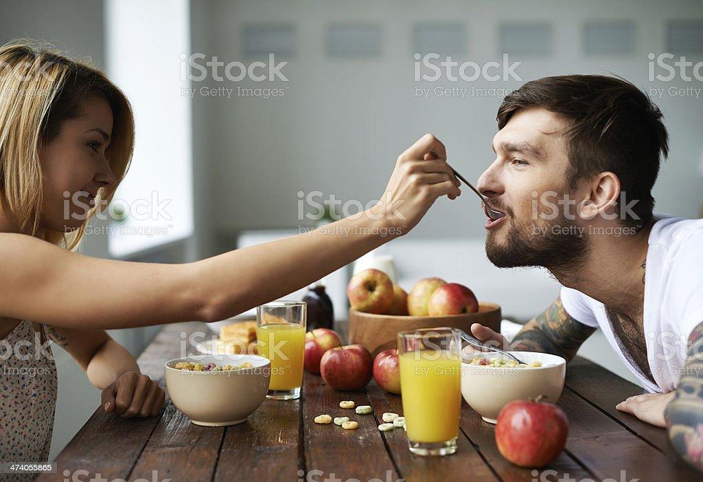 Awesome couple! stock photo