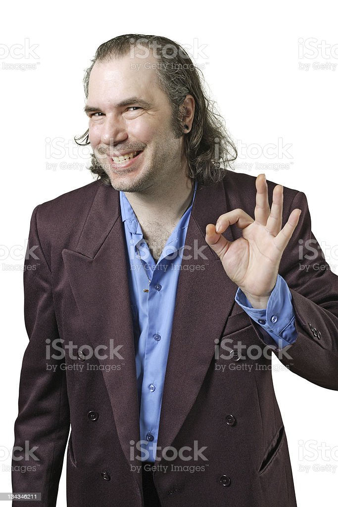 Awesome guy stock photo