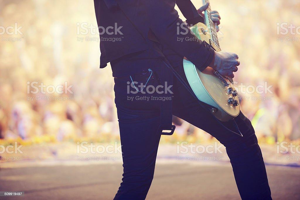 Awesome power chords! stock photo
