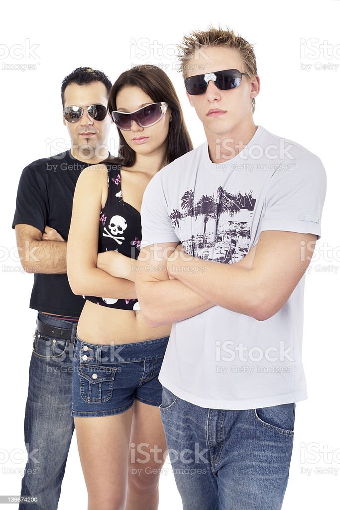 Awesome threesome 4 royalty-free stock photo