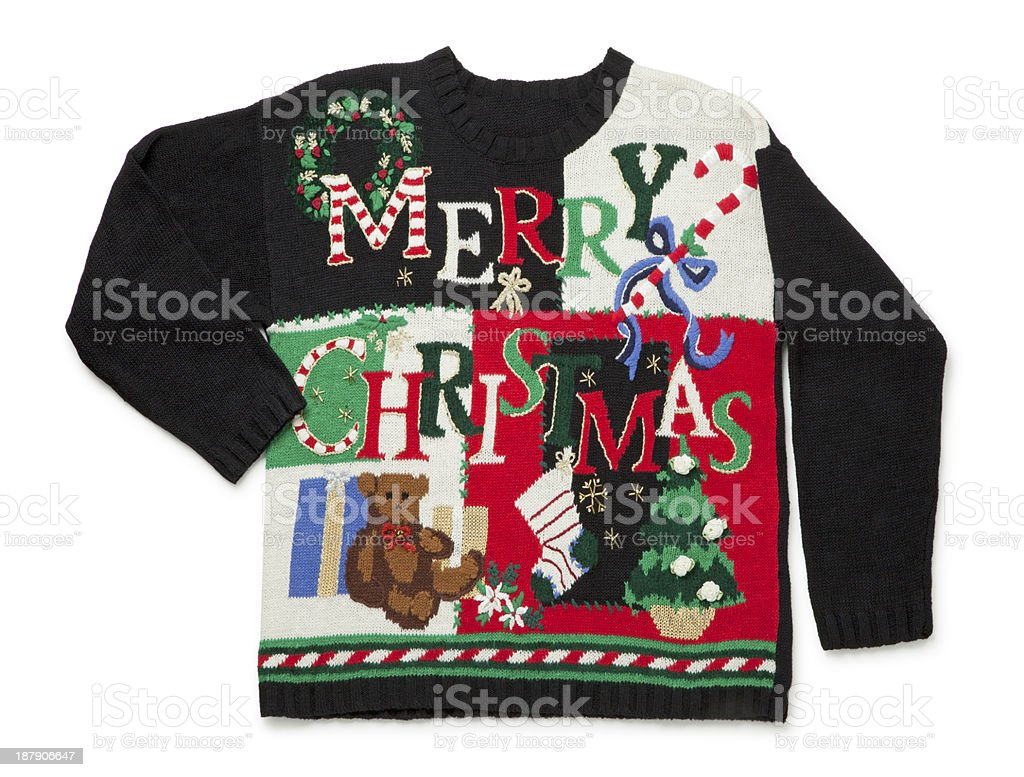 Awful Christmas Sweater stock photo