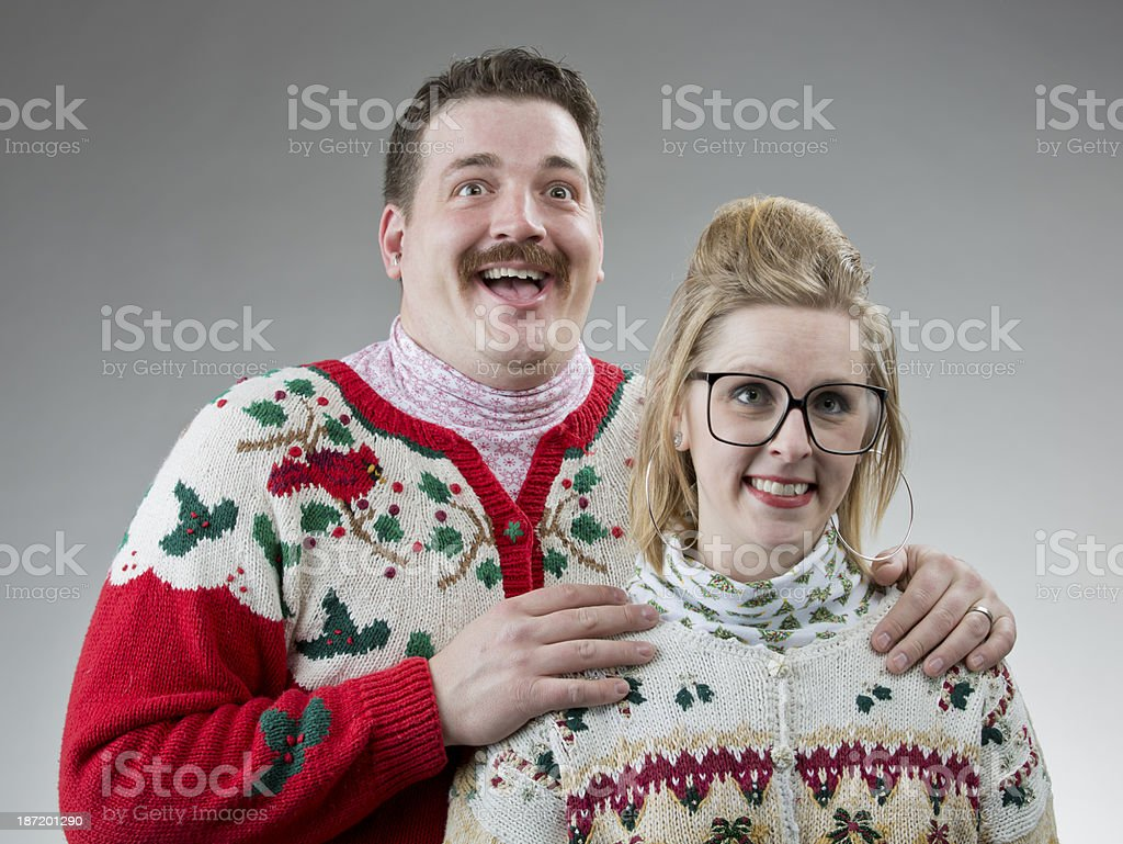 Awkward Christmas Photo stock photo