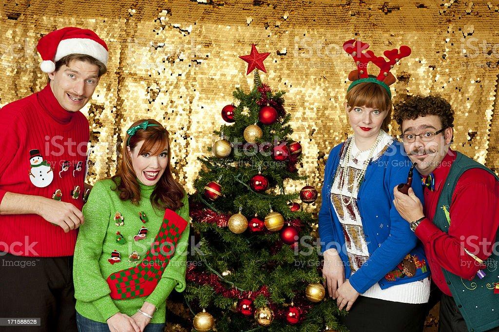 Awkward Christmas stock photo