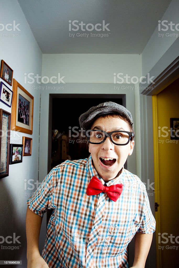 Awkward Guy (Copy space) royalty-free stock photo