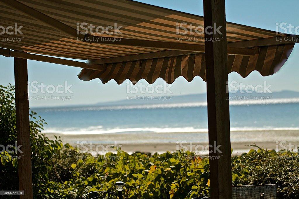 awning stock photo