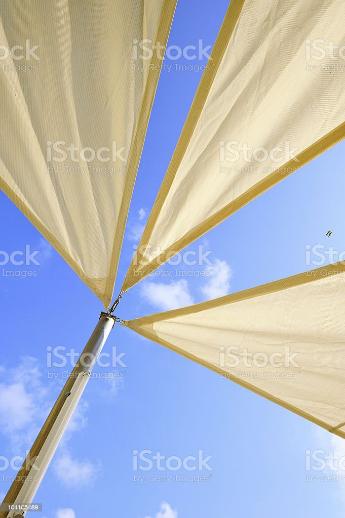 awnings stock photo