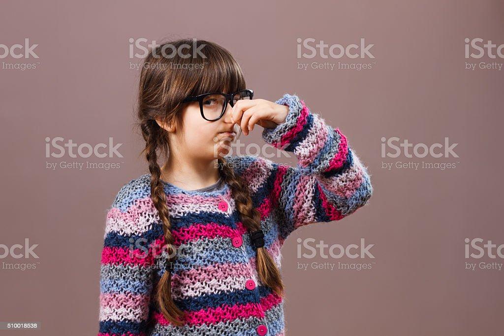 Aww something smells so bad! stock photo