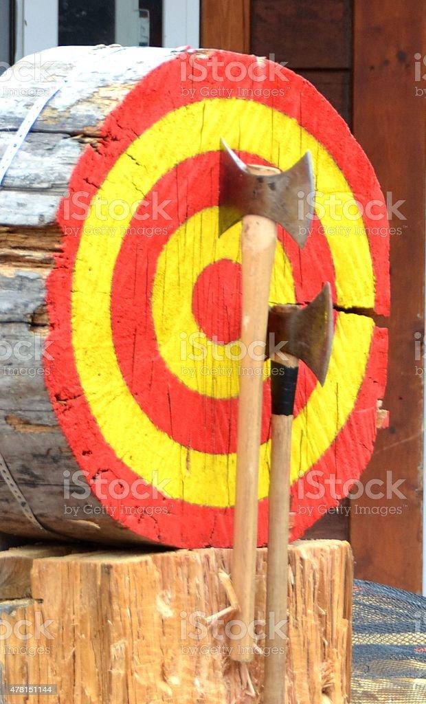 Ax Throwing stock photo