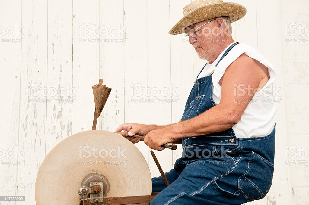 Ax to Grind stock photo