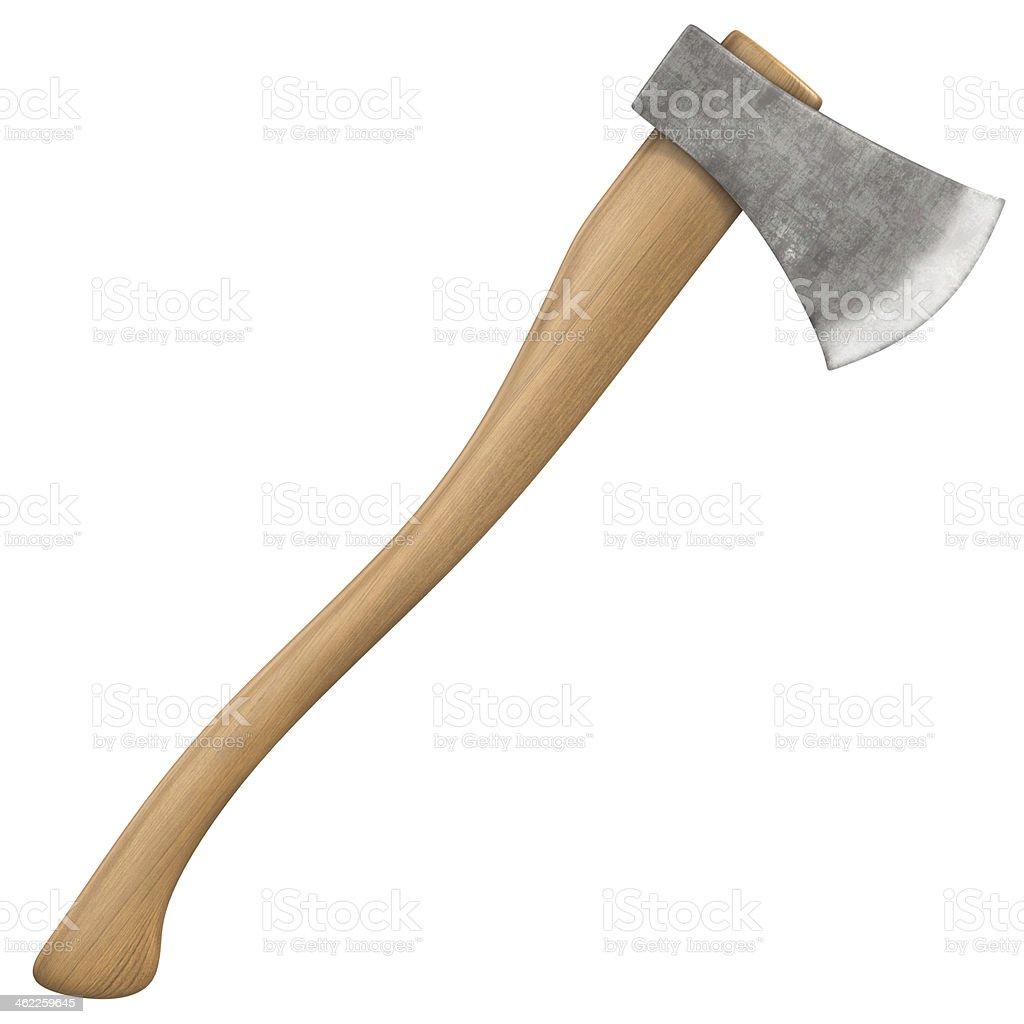 axe isolated on white stock photo
