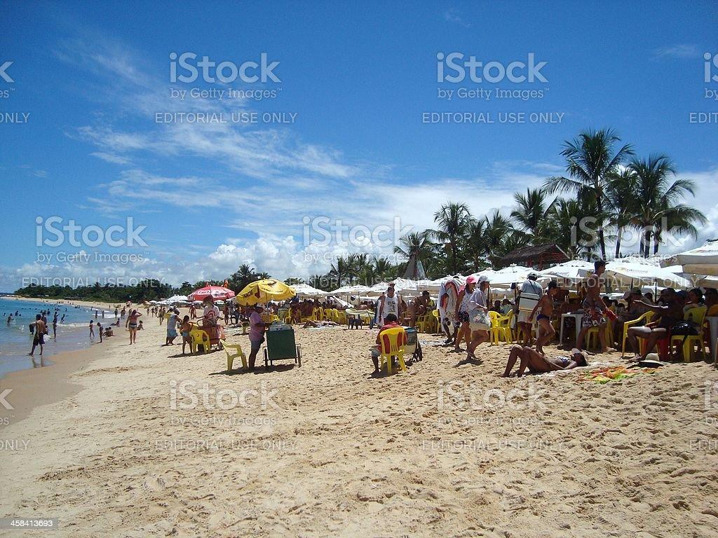 Axe Moi beach, Porto Seguro - Bahia Brazil stock photo