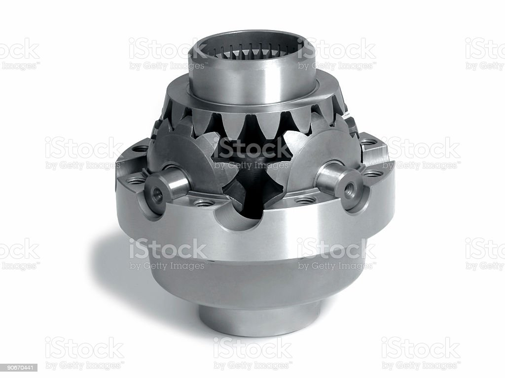 Axle gears royalty-free stock photo