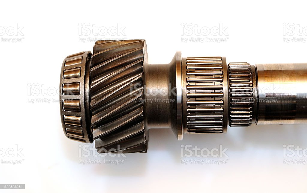 Axle isolated. stock photo