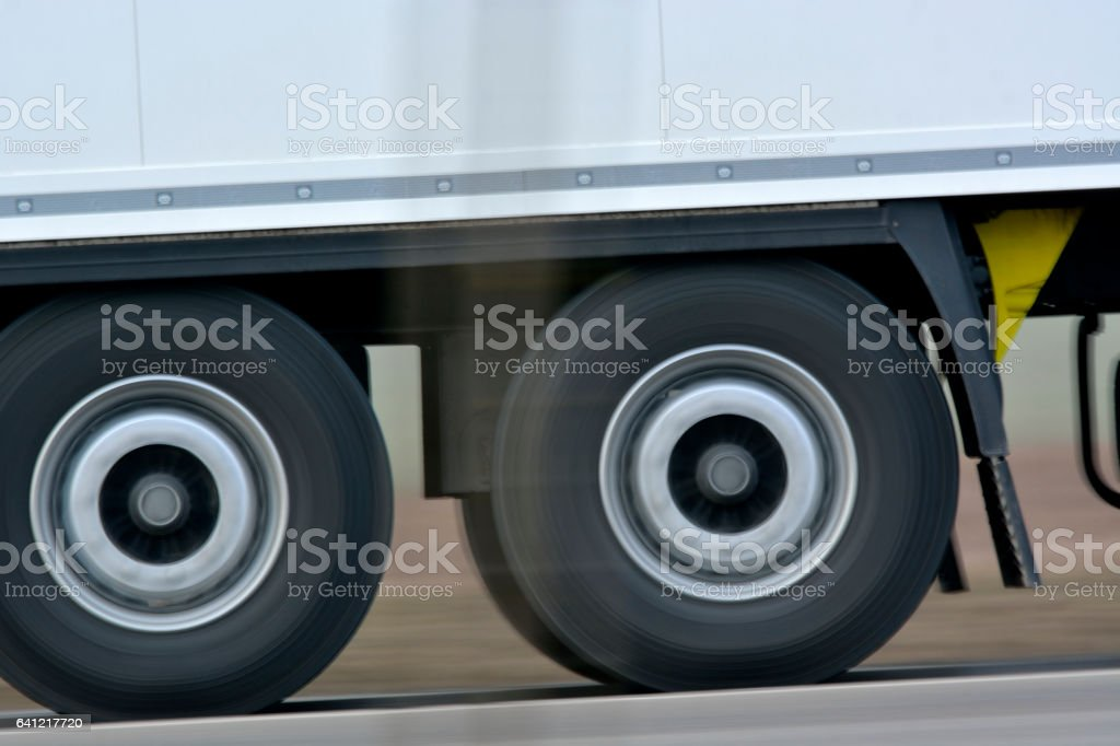 axles of the trailer stock photo