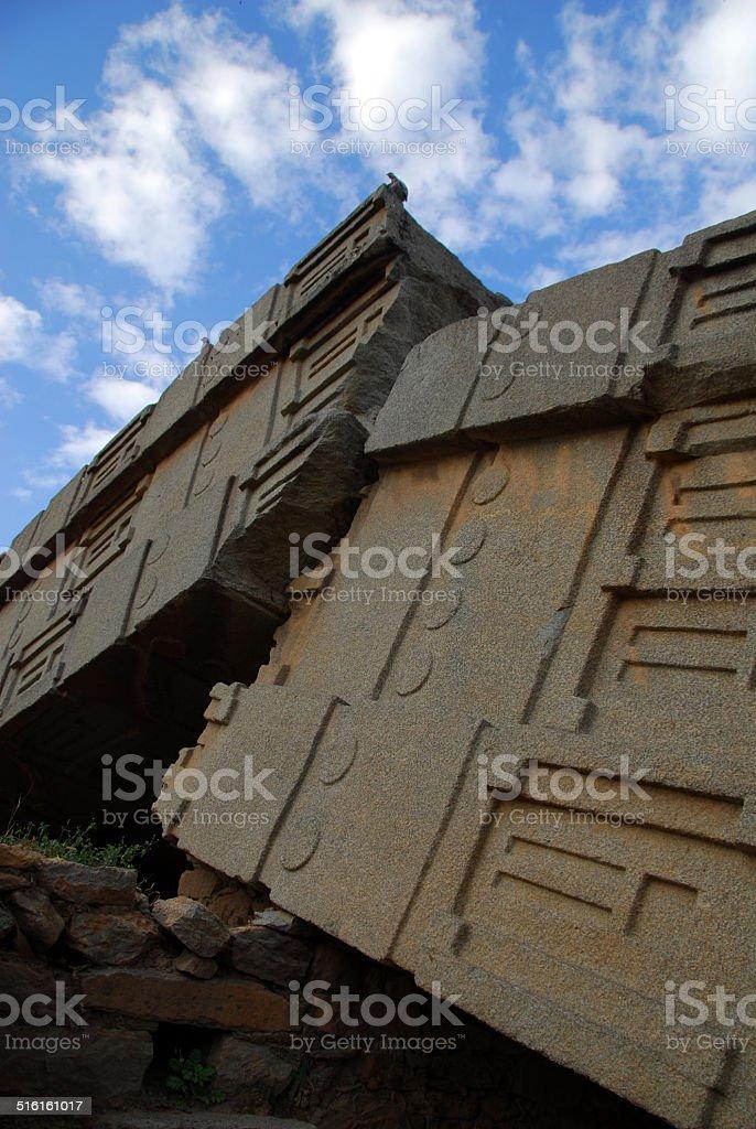 Axum, Ethiopia: Obelisk of Axum aka Great Stele stock photo