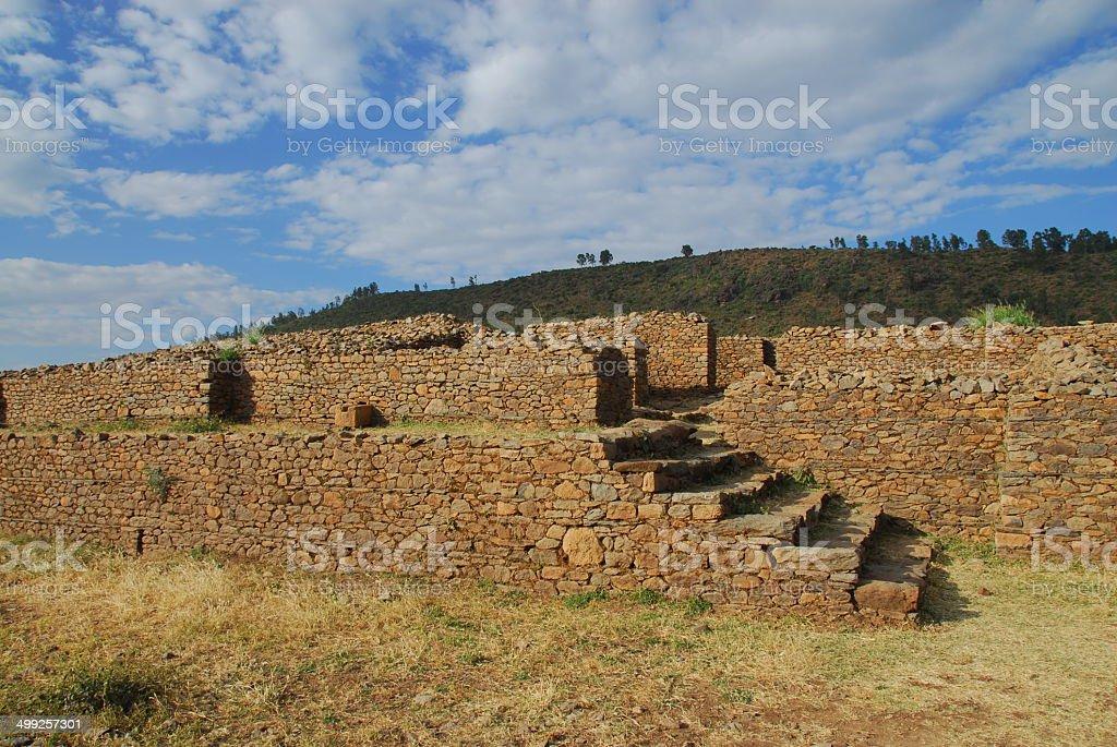 Axum, Ethiopia: Queen of Sheba's palace stock photo